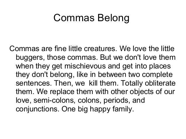 Dread Comma Splice