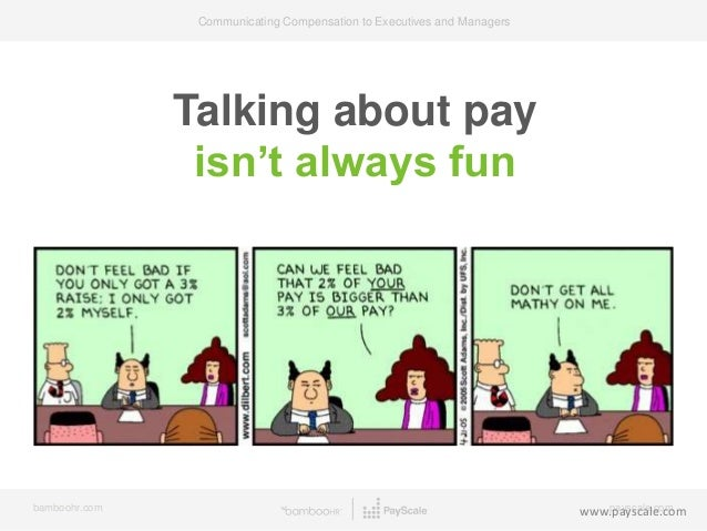communicating compensation to executives and managers