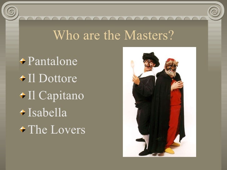 Commedia Dell Arte Slide 3