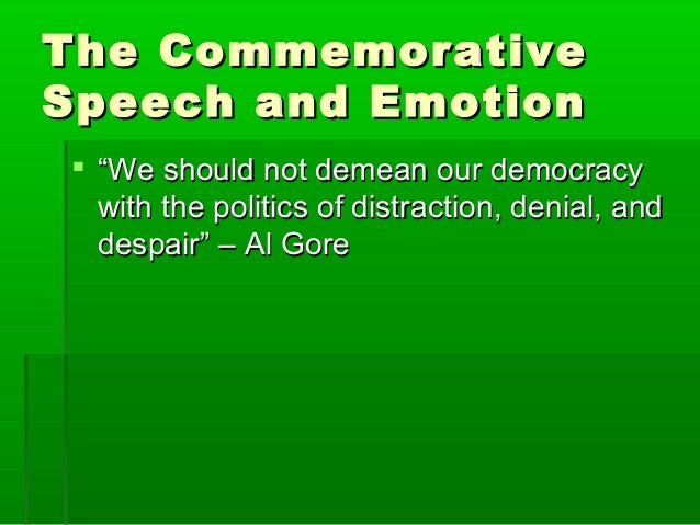 Commemorative Speech Stuff