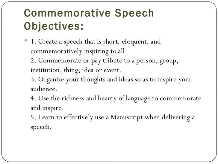 Short tribute speech examples