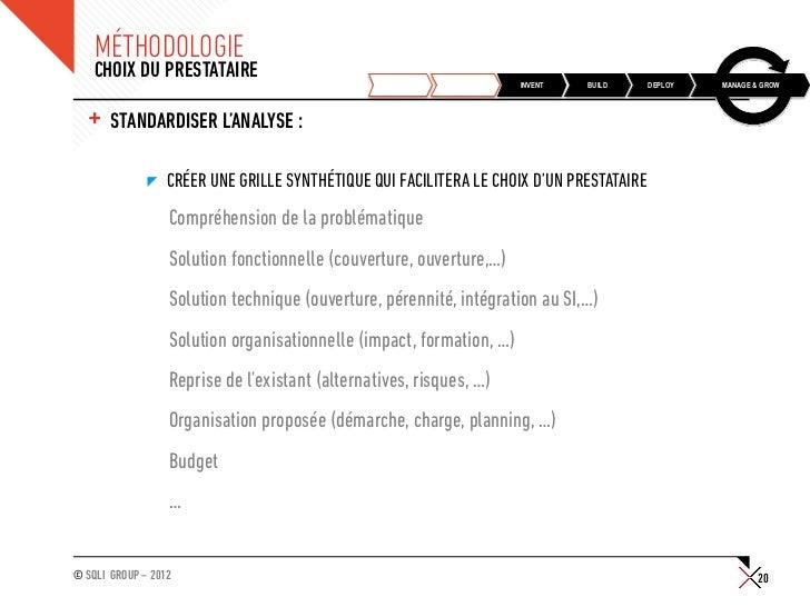 MÉTHODOLOGIE    CHOIX DU PRESTATAIRE                                                    DISCOVER   PLAN      INVENT   BUIL...