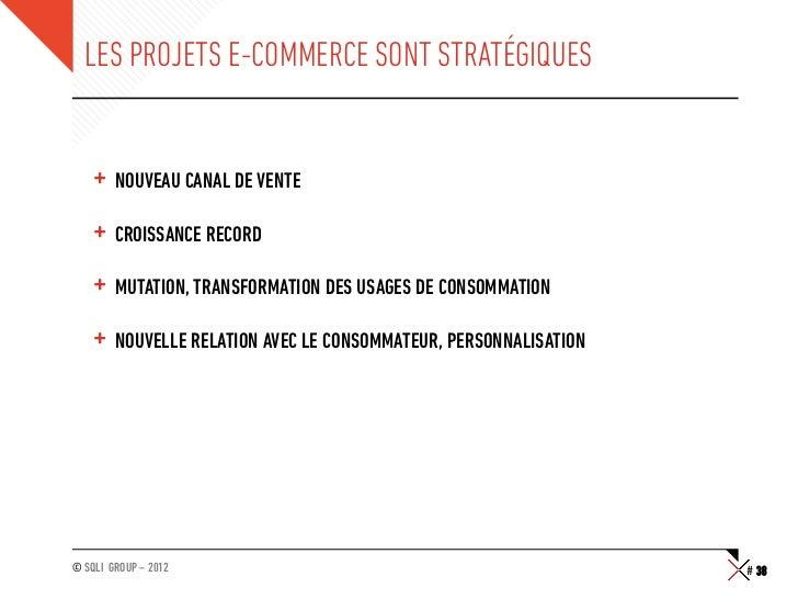 LES PROJETS E-COMMERCE SONT STRATÉGIQUES    + NOUVEAU CANAL DE VENTE    + CROISSANCE RECORD    + MUTATION, TRANSFORMATI...