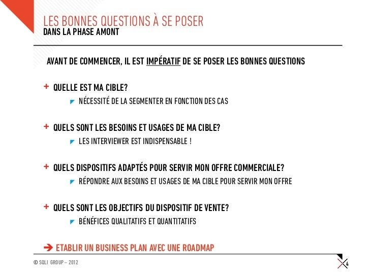 LES BONNES QUESTIONS À SE POSER    DANS LA PHASE AMONT     AVANT DE COMMENCER, IL EST IMPÉRATIF DE SE POSER LES BONNES QUE...
