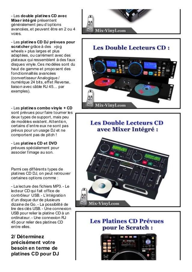 comment choisir vos platines cd dj ideales parmi les 6 types de mod l. Black Bedroom Furniture Sets. Home Design Ideas