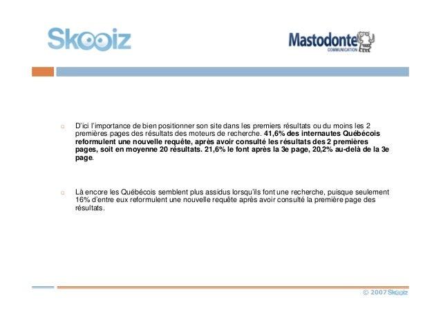 © 2007 D'ici l'importance de bien positionner son site dans les premiers résultats ou du moins les 2 premières pages des r...