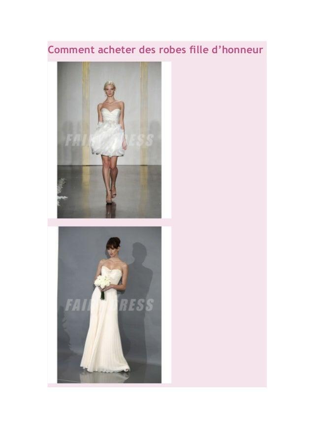 Comment acheter des robes fille d'honneur