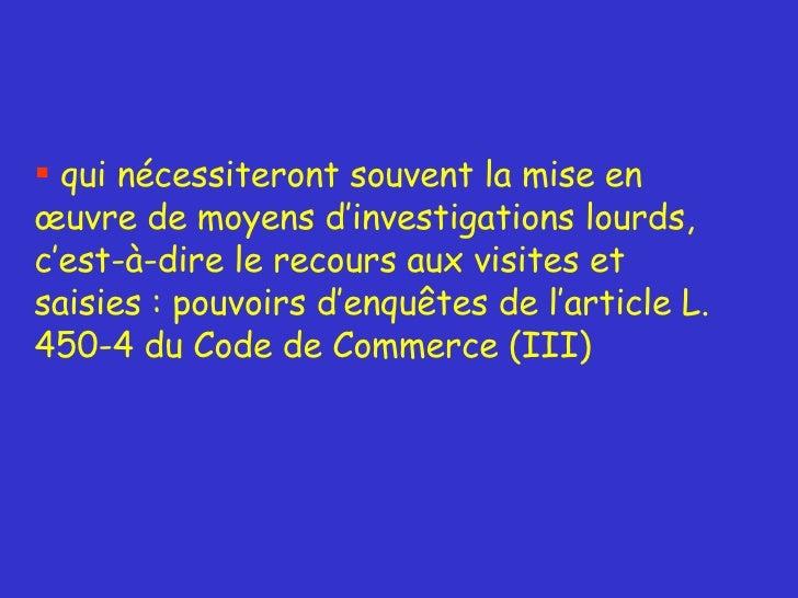 Commentaires De M Andre Marie Chef Du Bureau Des Pratiques Anti Concurrentielles DGCCRF France