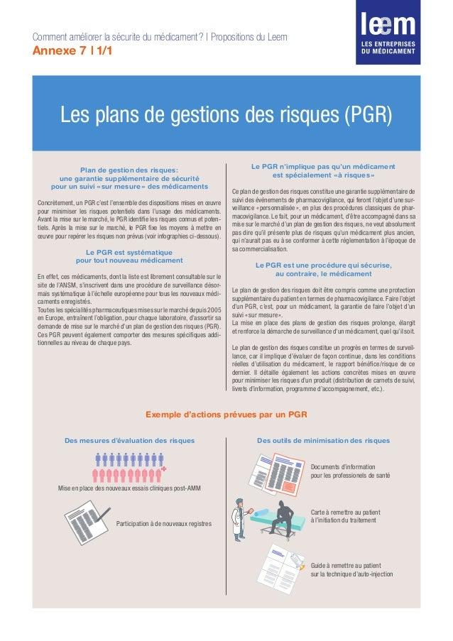Les plans de gestions des risques (PGR) Plan de gestion des risques: une garantie supplémentaire de sécurité pour un suiv...