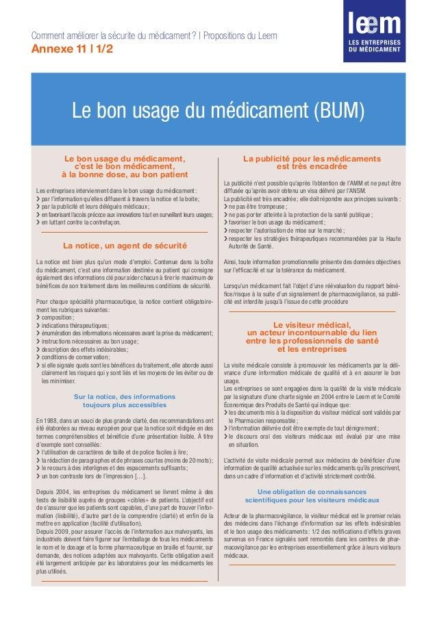 Le bon usage du médicament (BUM) Le bon usage du médicament, c'est le bon médicament, à la bonne dose, au bon patient Les ...