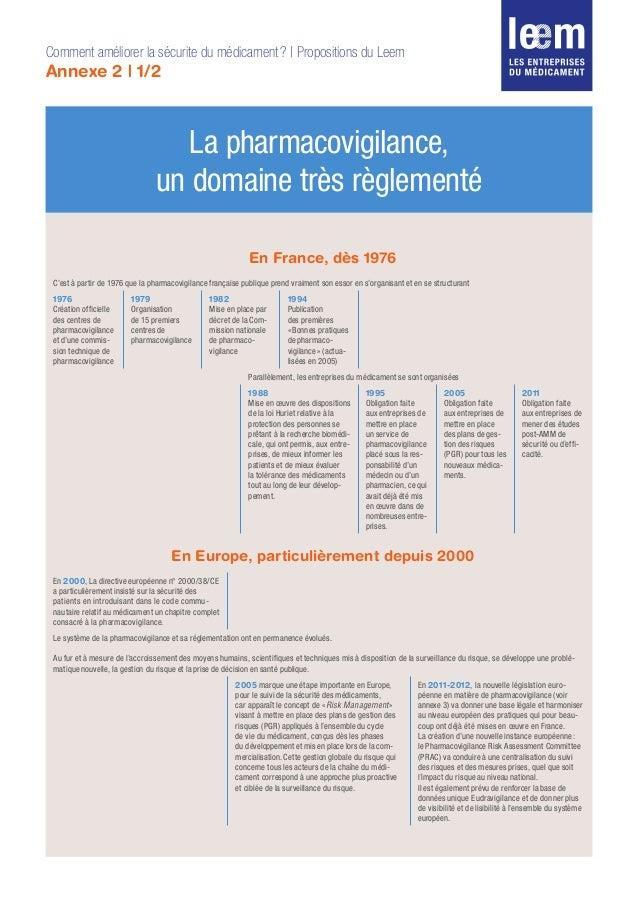 En France, dès 1976 C'est à partir de 1976 que la pharmacovigilance française publique prend vraiment son essor en s'organ...