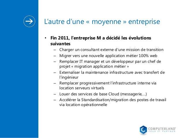 L'autre d'une « moyenne » entreprise • Fin 2011, l'entreprise M a décidé les évolutions suivantes – Charger un consultant ...