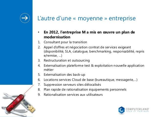 L'autre d'une « moyenne » entreprise •  En 2012, l'entreprise M a mis en œuvre un plan de modernisation  1. Consultant pou...