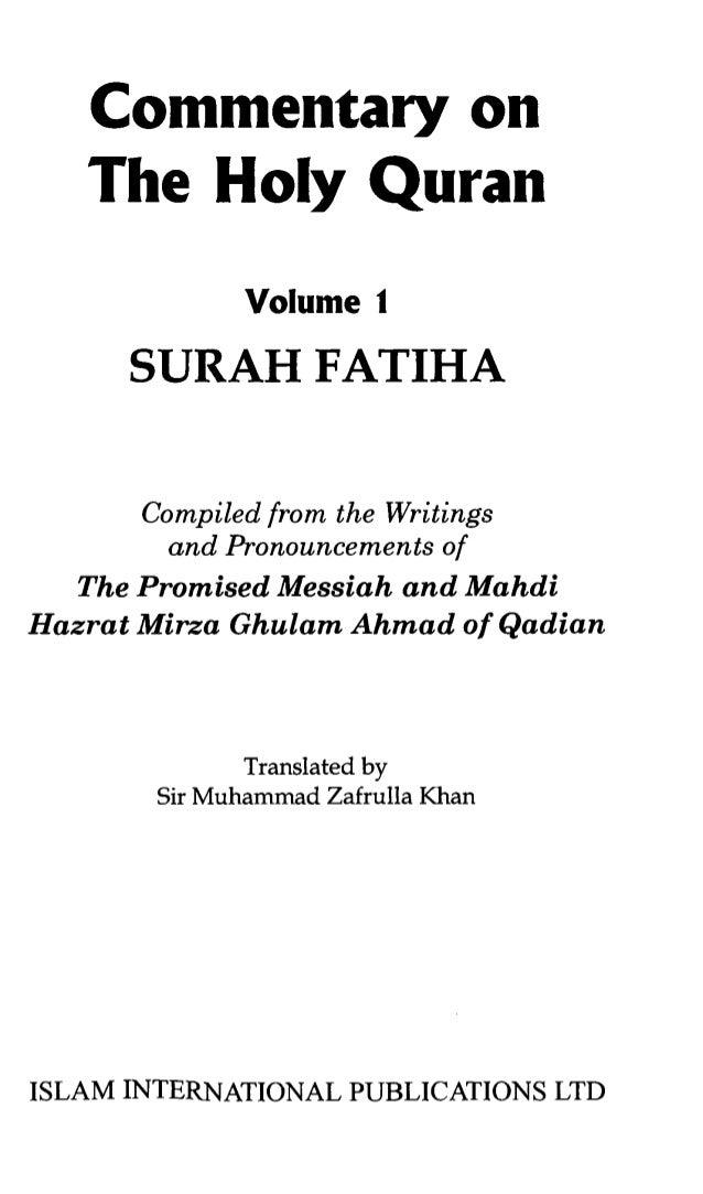 Commentary on-surah-fatiha