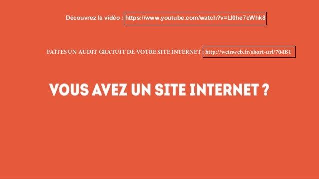 FAÎTES UN AUDIT GRATUIT DE VOTRE SITE INTERNET : http://weinweb.fr/short-url/704B1 Découvrez la vidéo : https://www.youtub...