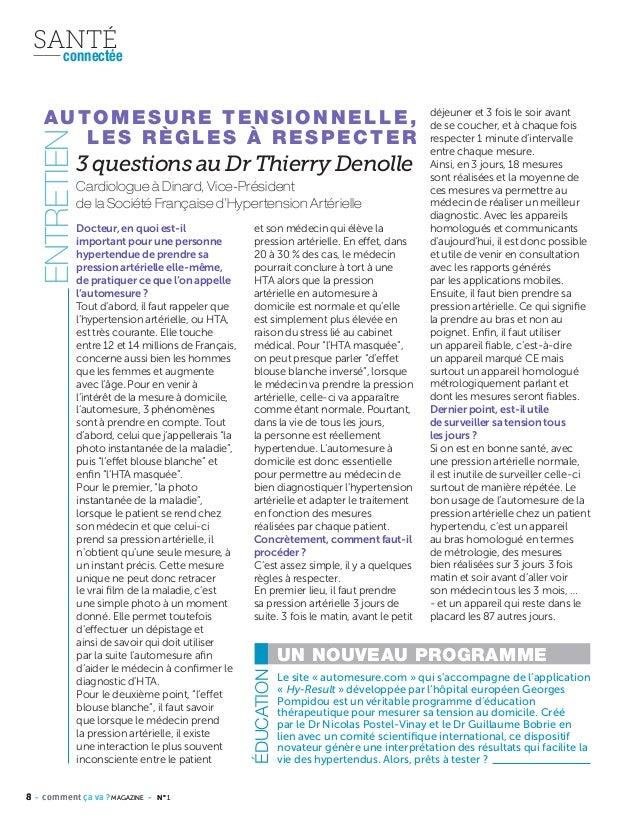 8 - comment ça va ? MAGAZINE - N° 18 - comment ça va ? MAGAZINE - N° 1 SANTÉconnectée 3 questions au Dr Thierry Denolle Do...