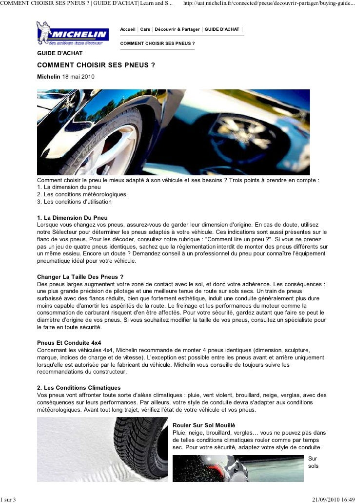 COMMENT CHOISIR SES PNEUS ? | GUIDE DACHAT| Learn and S...               http://uat.michelin.fr/connected/pneus/decouvrir-...