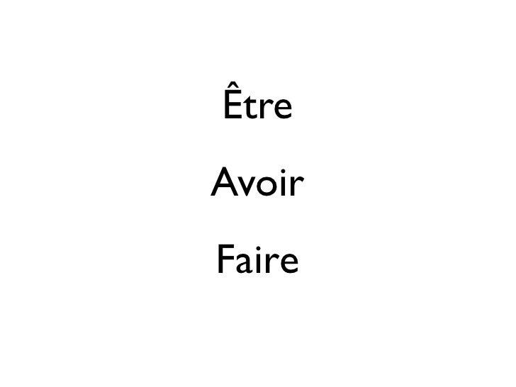 ÊtreAvoirFaire