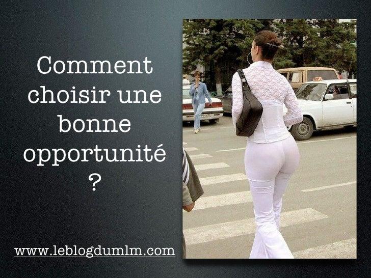 Commentchoisir une  bonneopportunité     ?www.leblogdumlm.com