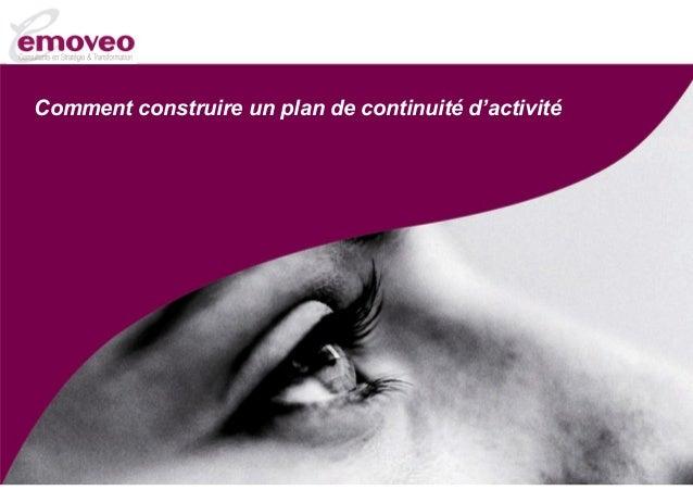 Comment construire un plan de continuité d'activité