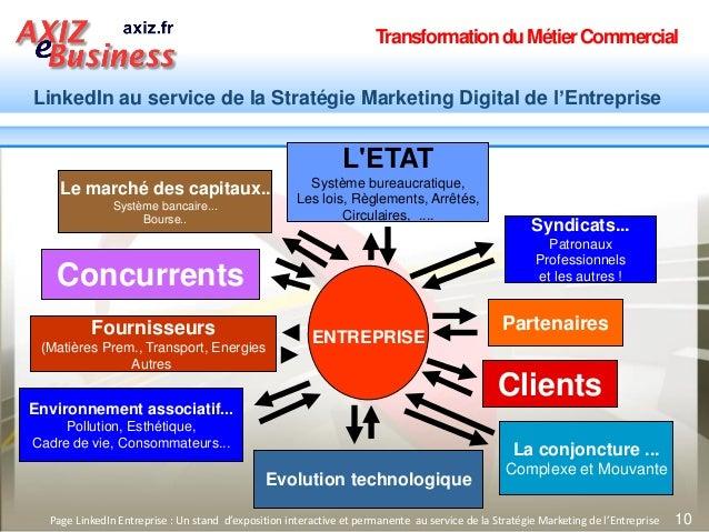 TransformationduMétierCommercial LinkedIn au service de la Stratégie Marketing Digital de l'Entreprise 10Page LinkedIn Ent...