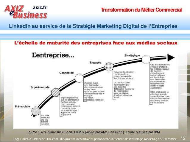TransformationduMétierCommercial LinkedIn au service de la Stratégie Marketing Digital de l'Entreprise 12Page LinkedIn Ent...