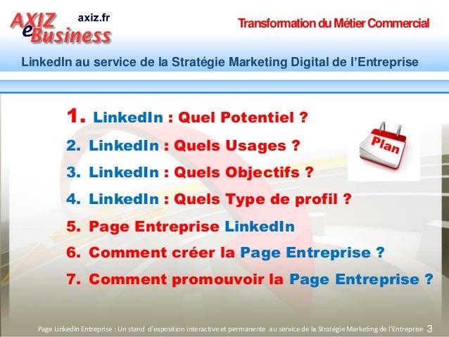 TransformationduMétierCommercial LinkedIn au service de la Stratégie Marketing Digital de l'Entreprise 3Page LinkedIn Entr...