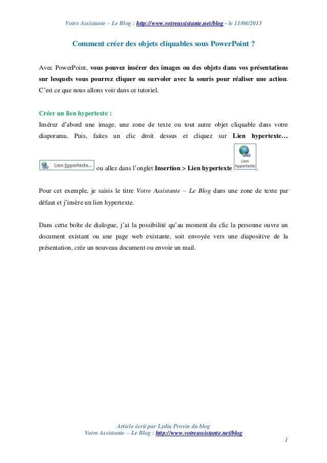 Votre Assistante – Le Blog : http://www.votreassistante.net/blog - le 11/06/2013 Article écrit par Lydia Provin du blog Vo...