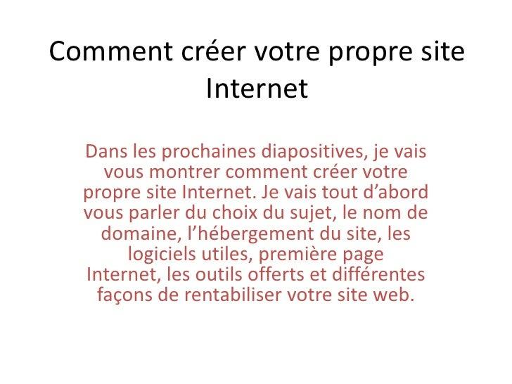 Comment CréEr Votre Propre Site Internet