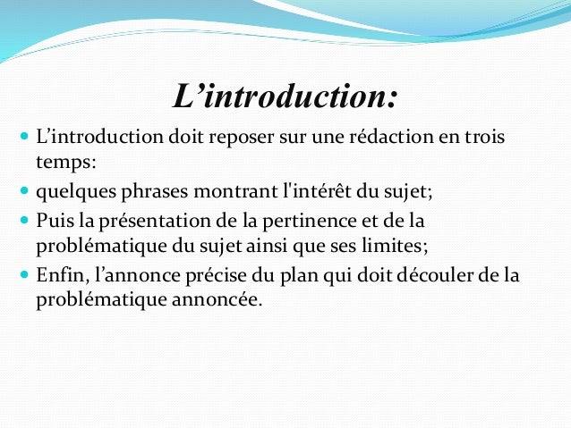 dissertation bonne introduction