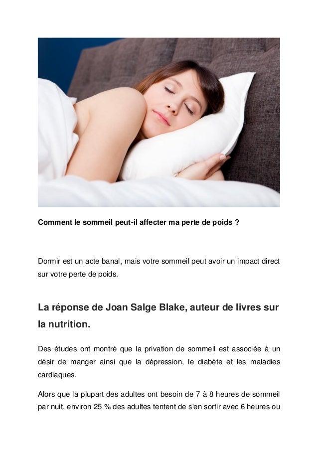 Comment le sommeil peut-il affecter ma perte de poids ?Dormir est un acte banal, mais votre sommeil peut avoir un impact d...