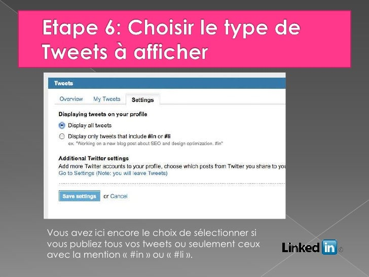comment lier son twitter et linkedin ensemble