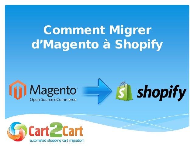 Comment Migrer d'Magento à Shopify