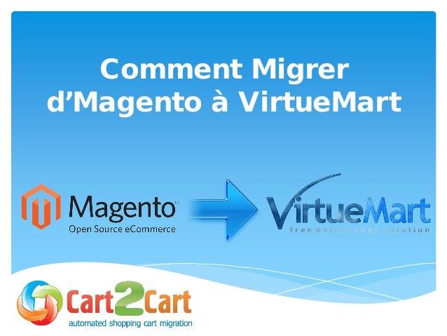 Comment Migrer d'Magento à VirtueMart
