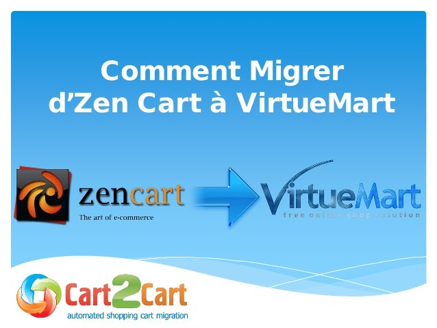Comment Migrer d'Zen Cart à VirtueMart