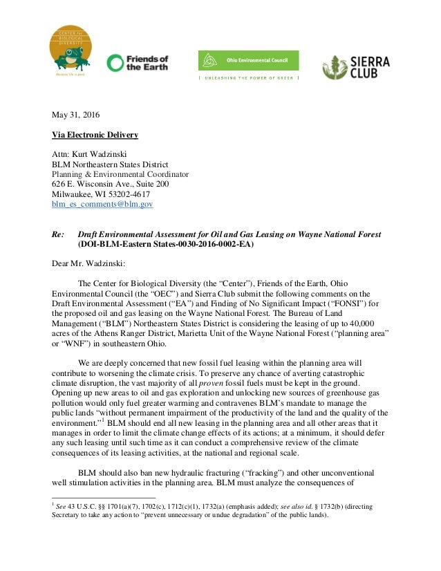 Letter from Radical Enviro Groups Requesting BLM Halt