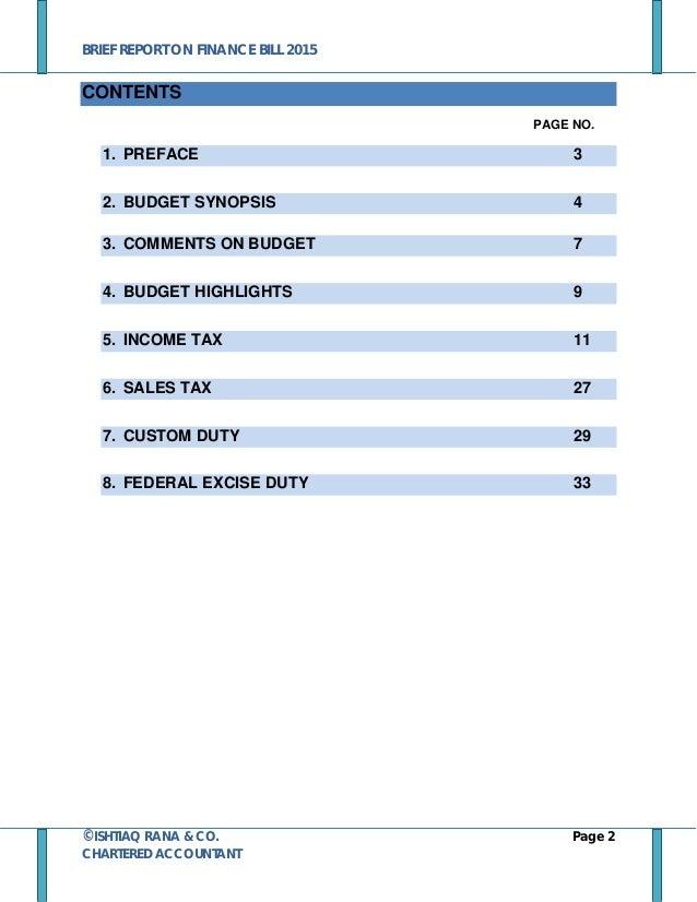 pakistan budget summary 2015 by ircoca