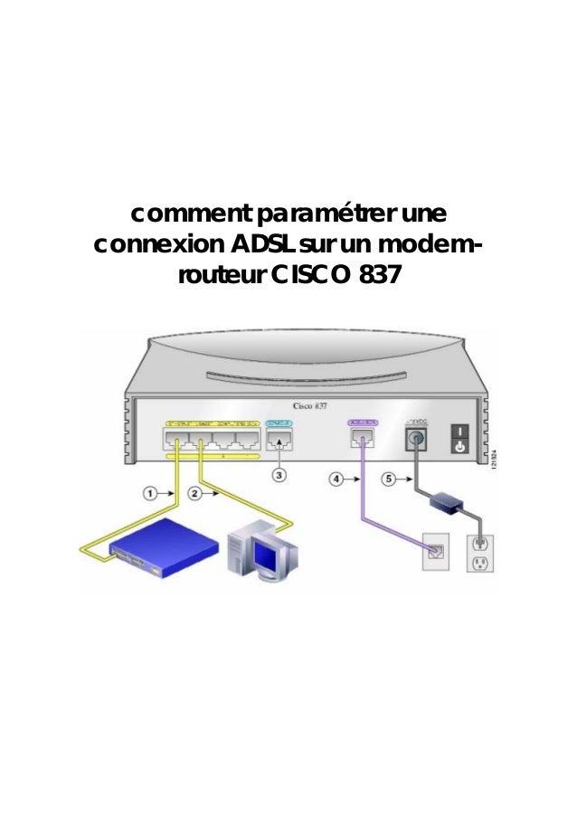 comment paramétrer une connexion ADSL sur un modem- routeur CISCO 837