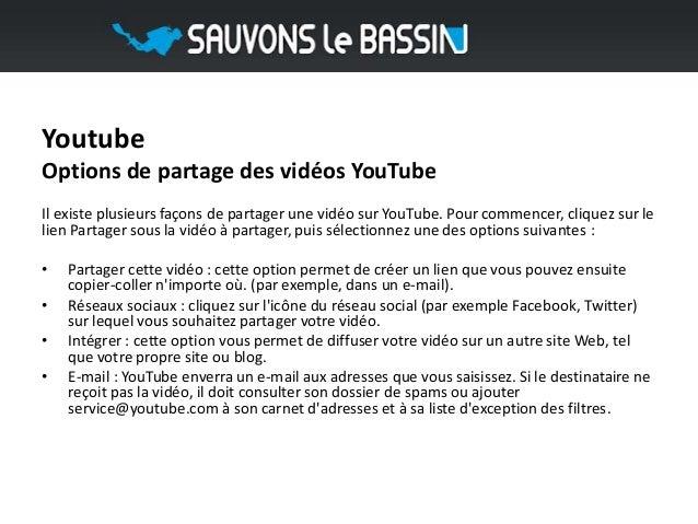 YoutubeOptions de partage des vidéos YouTubeIl existe plusieurs façons de partager une vidéo sur YouTube. Pour commencer, ...