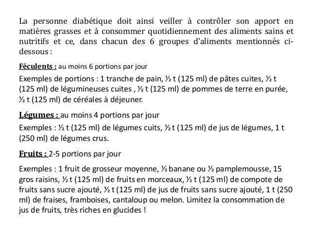 comment prescrire une ration glucidique chez un diabetique