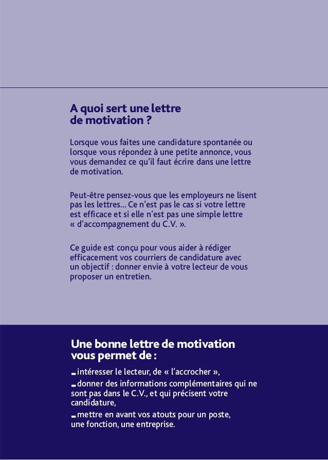 comment rediger une lettre de motivation