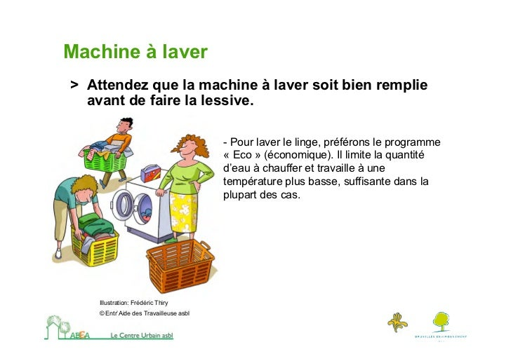 Comment r duire ses consommations d 39 nergie for Combien consomme une machine a laver en eau