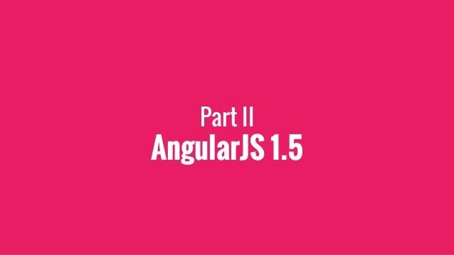 Nouveautés AngularJS 1.5 ?
