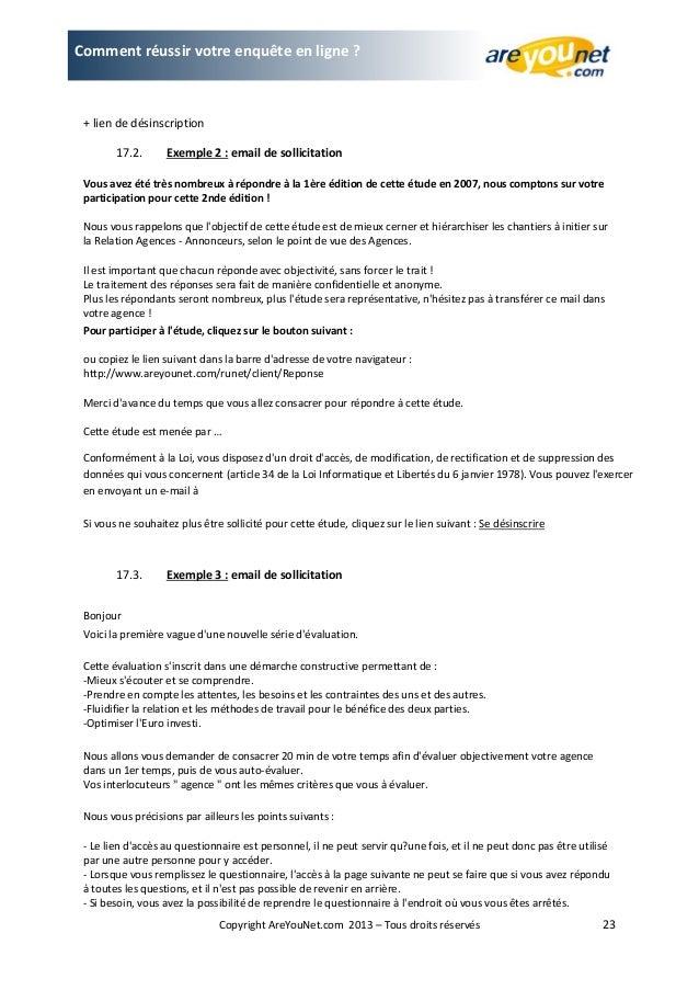 Exemple Mail De Relance Enquete De Satisfaction - Exemple ...