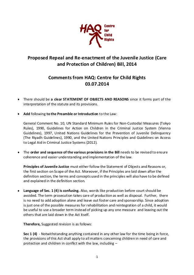 Juveniles' Responsibilities and Rights