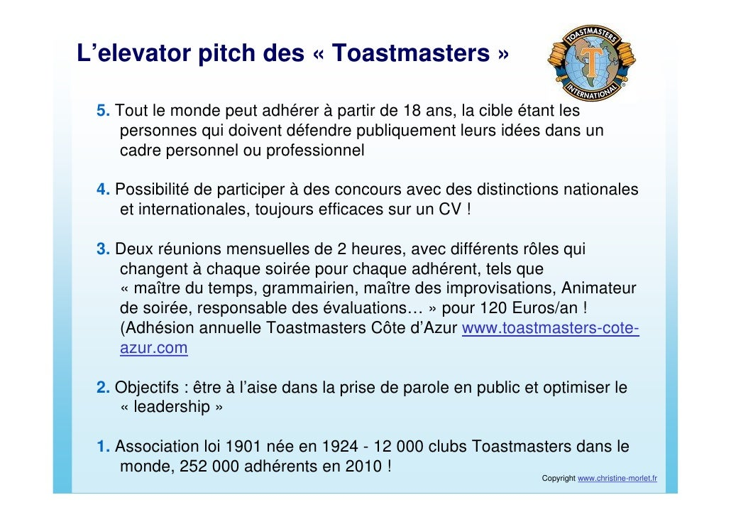 elevator pitch savoir se presenter efficacement