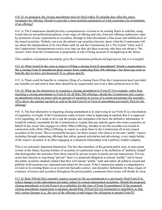 JOBS Act Rulemaking Comments on SEC File Number S7-06-13