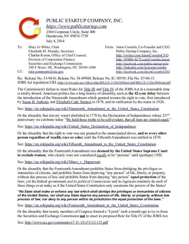 PUBLIC STARTUP COMPANY, INC.  https://www.publicstartup.com  2360 Corporate Circle, Suite 400  Henderson, NV 89074-7739  J...