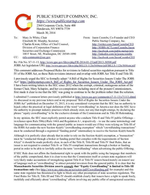 PUBLIC STARTUP COMPANY, INC.  https://www.publicstartup.com  2360 Corporate Circle, Suite 400  Henderson, NV 89074-7739  M...
