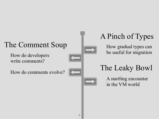 Comment soup with a pinch of types, served in a leaky bowl Slide 2